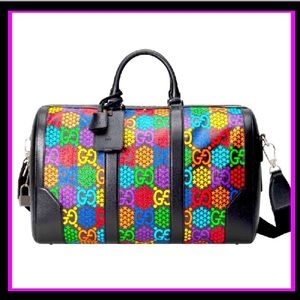 🌈😍New Gucci Psychedelic Duffle Bag Carry On